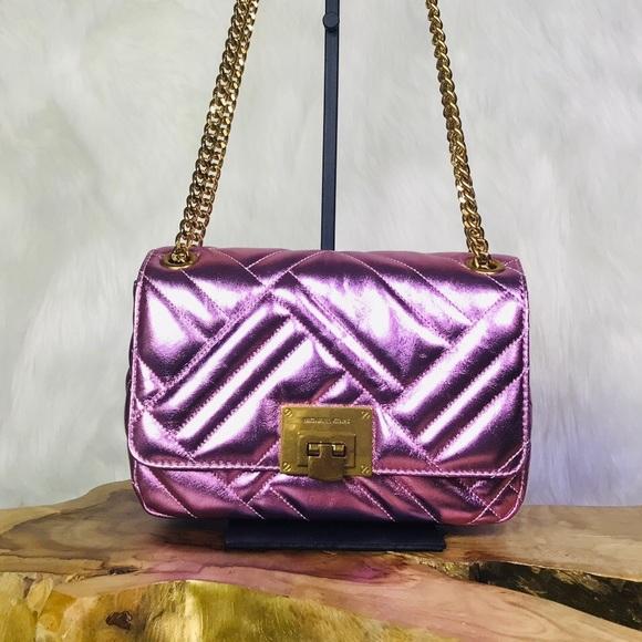 Michael Kors Vivianne Shoulder Flap Leather Bag